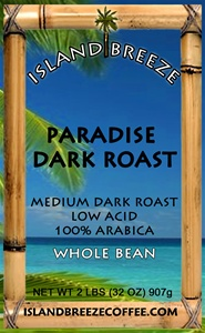 Paradise Dark Roast Regular 2 LB  Whole Bean